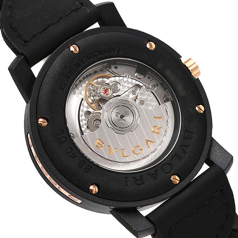 Bulgari - Bvlgari Bvlgari Carbon Gold Watch Automatic Gent brown 102633 115f375a08