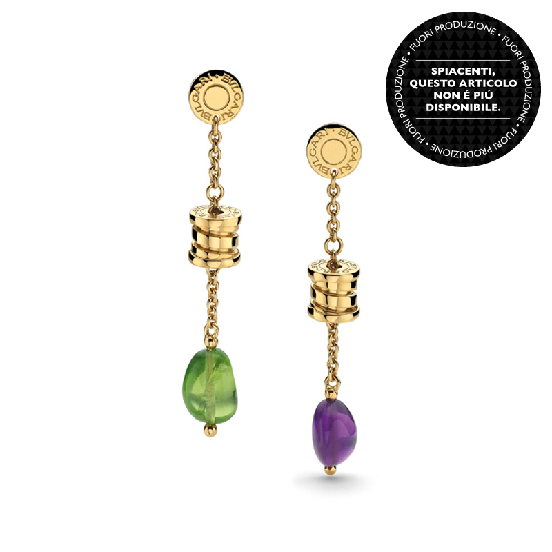 Yellow Gold Earrings with Gemstones