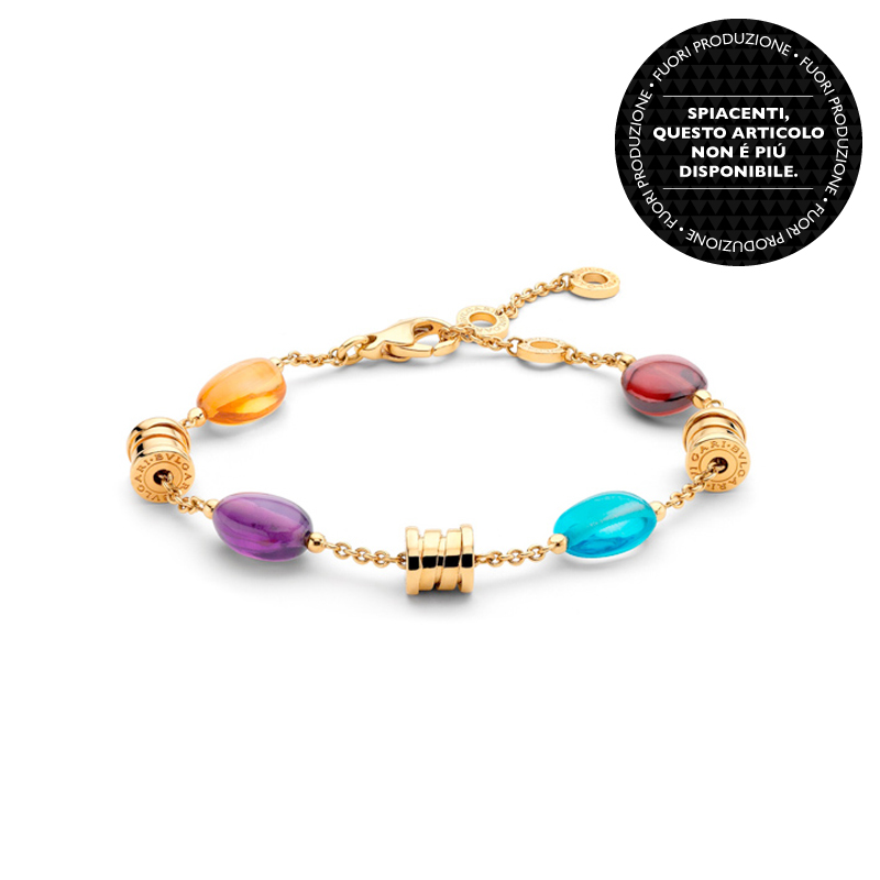 Bracelet in Yellow Gold with Gemstones