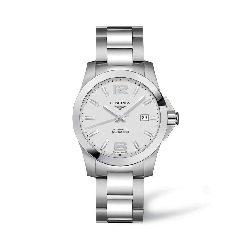 004f93f320a Longines Conquest Automatic 39 mm steel watch L36764766