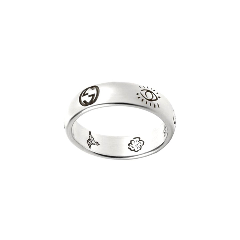 a4e7ba594 Gucci - Blind for Love - Silver Ring, YBC455247001013