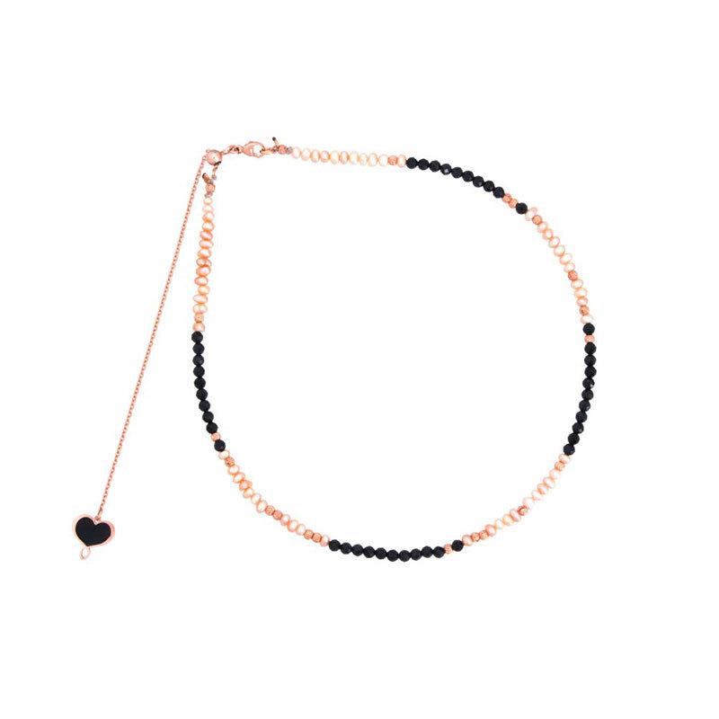 Girocollo con perle e spinello