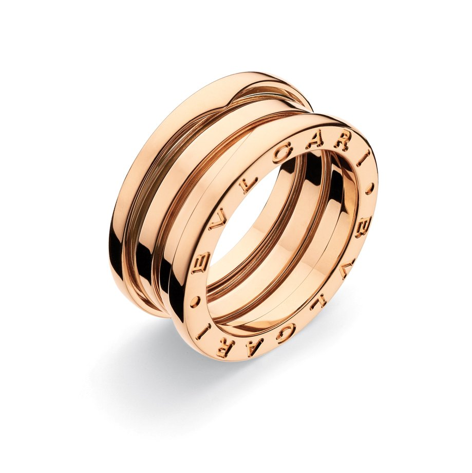 3-Band Pink Gold Ring