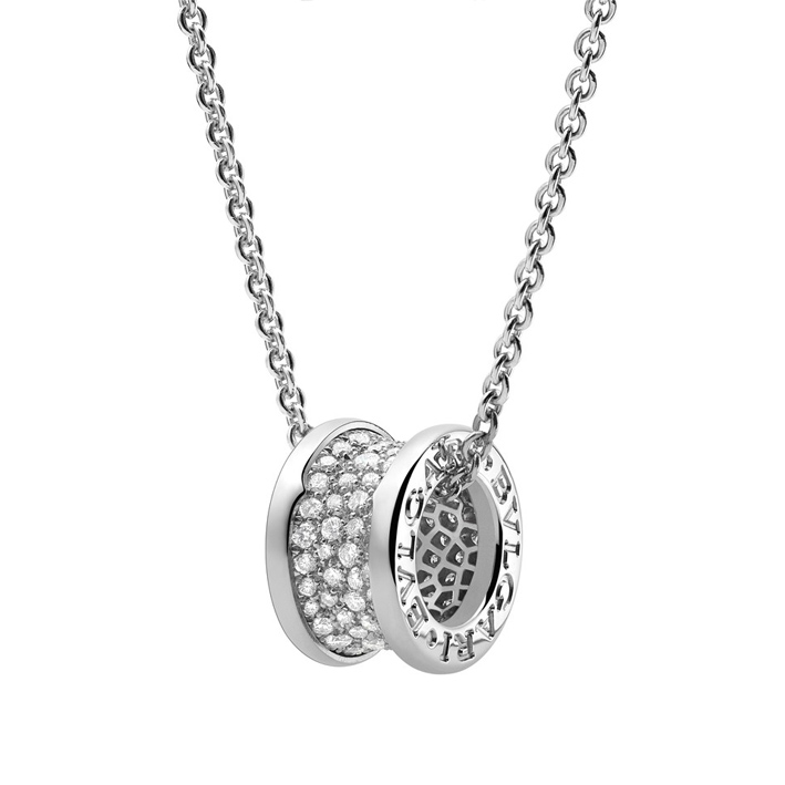 Necklace with Pendant in White Gold and Diamonds