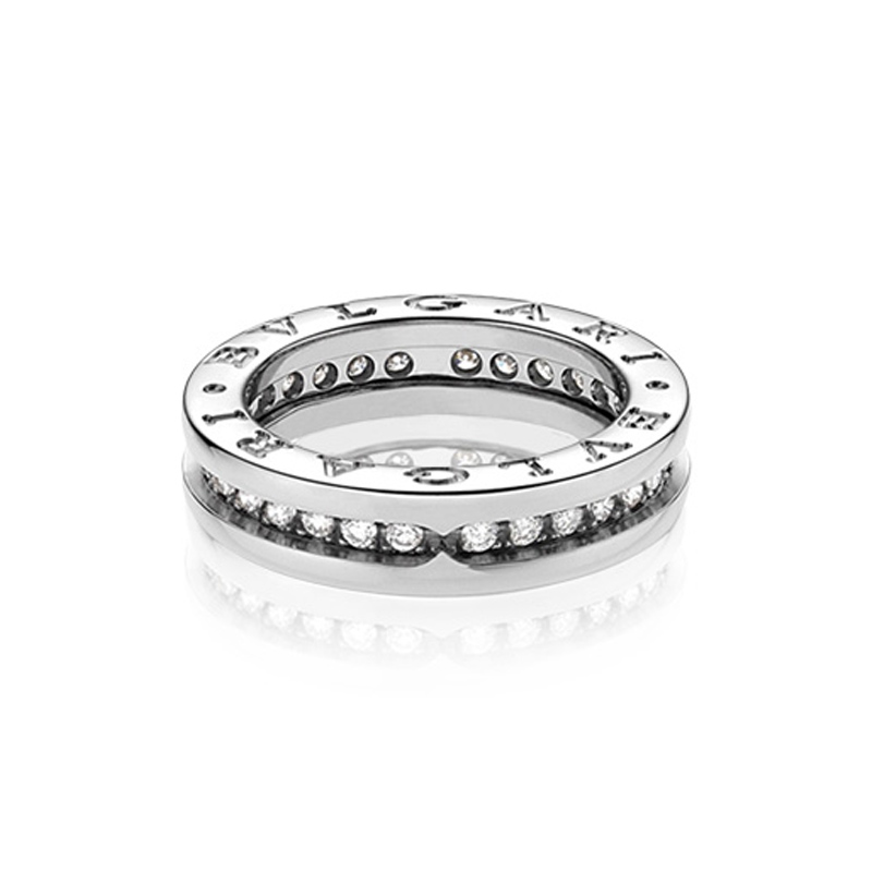 1-band White Gold Ring with Diamonds