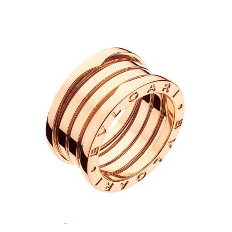 4-Band Pink Gold Ring