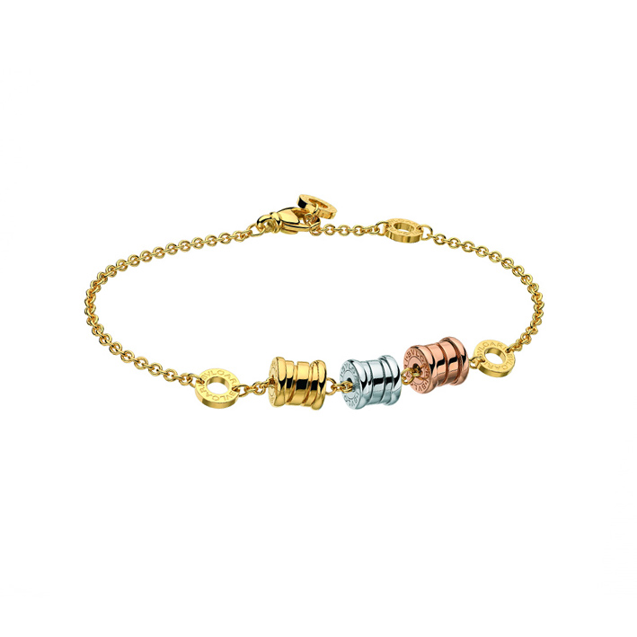 Bracelet 3-feature in Yellow, White and Pink Gold