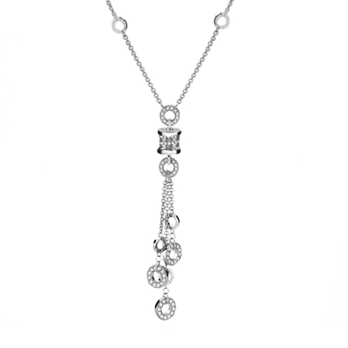 Necklace in White Gold with Diamonds