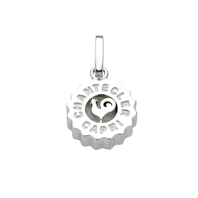 Medium charm in silver with rooster