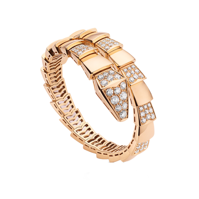 Pink Gold Bracelet with Diamonds