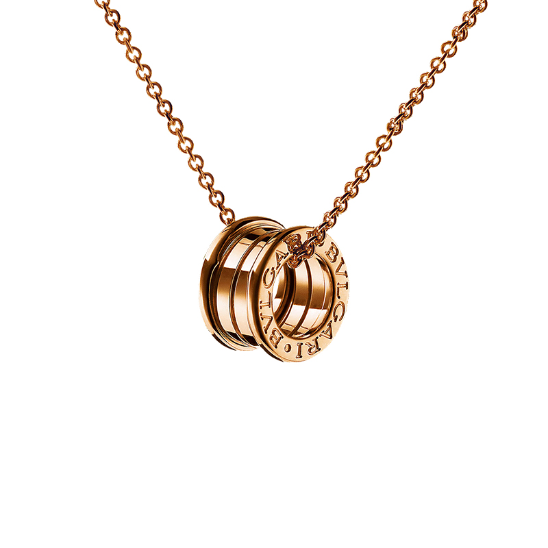 Necklace with Pendant in Pink Gold