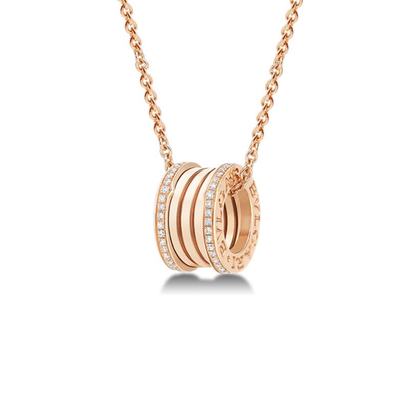 Collana con Pendente in Oro Rosa e Diamanti