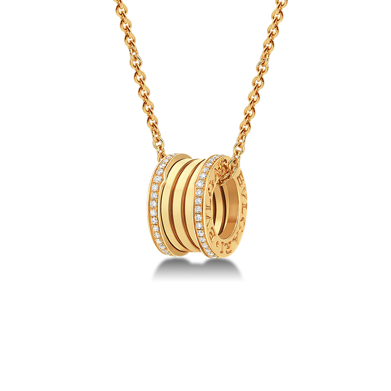 Necklace with Pendant in Yellow Gold and Diamonds