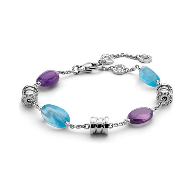 Bracelet in White Gold and Gemstones
