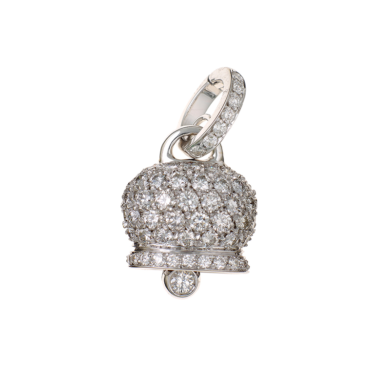 Medium Charm in White Gold and Diamonds