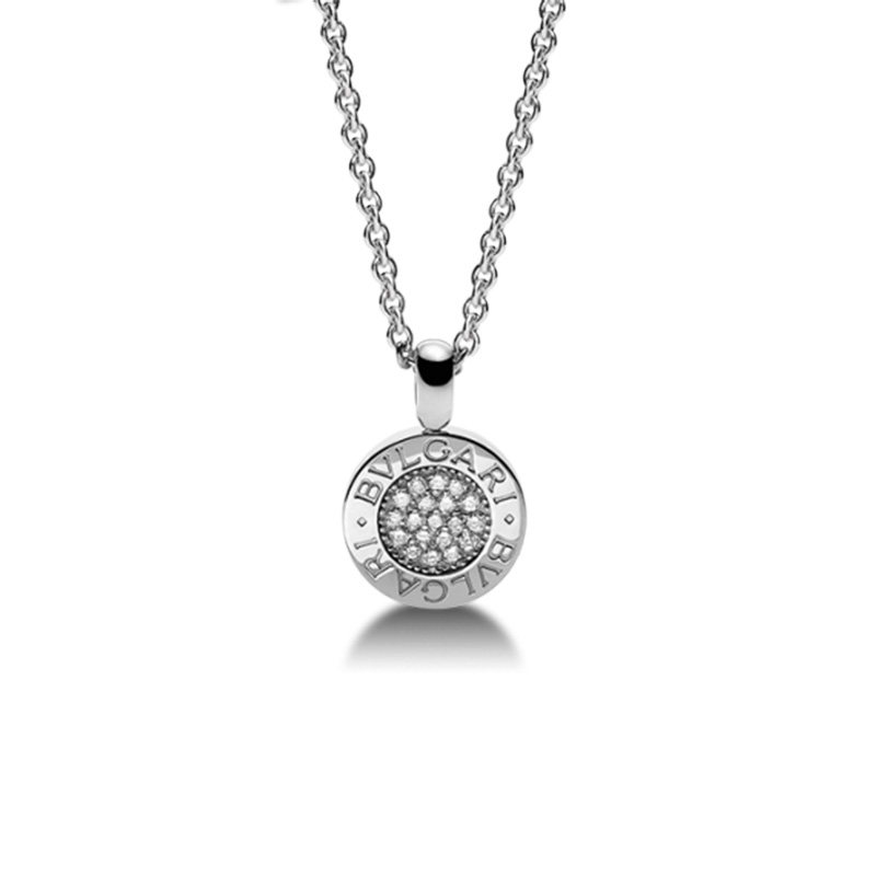 Collana con Pendente in Oro Bianco e Diamanti