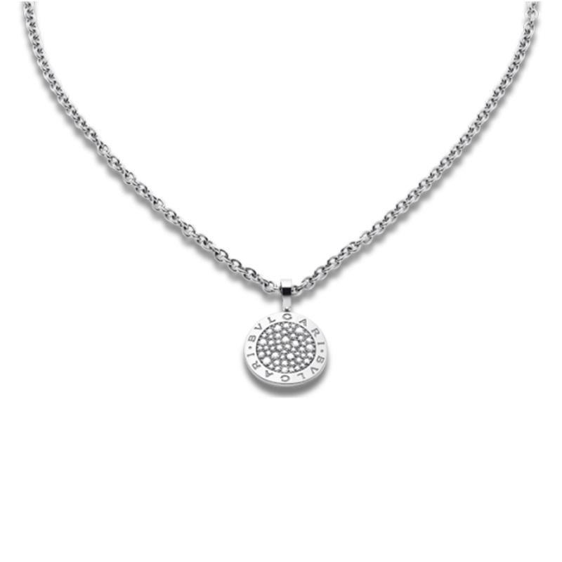 White gold necklace with diamonds pavè