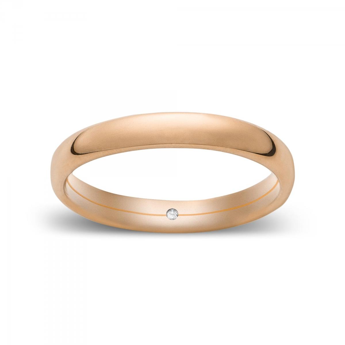 Marli Fede confort media in oro Rosatenue®