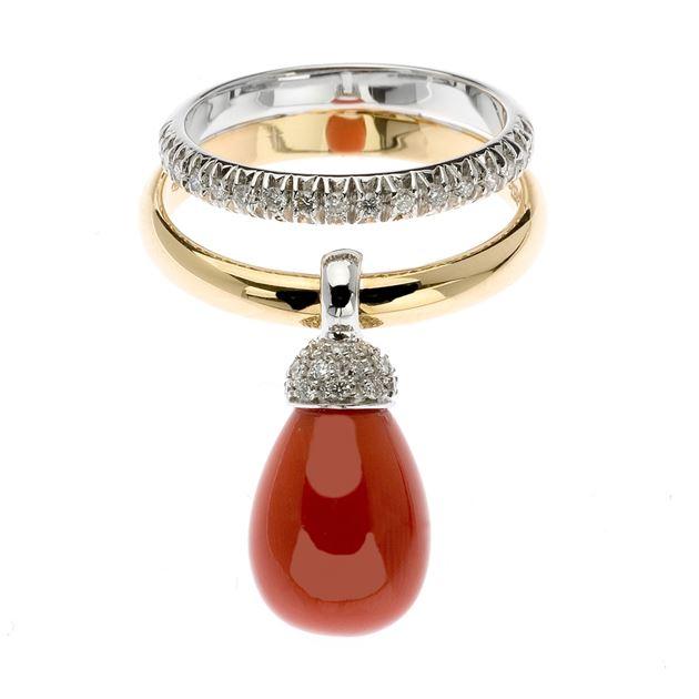 nuovo stile a861e 6561a Chantecler - Joyful - Anello, oro bianco e giallo, diamanti ...